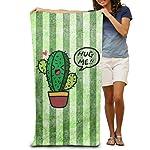 Hug Cactus Bath Towels Beach Towels Swim Towels Adults Soft Absorbent 31 x 51 Inch