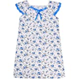 COMIART Women Floral Nightgowns Round Neck Sleeveless Sleepwear Mom Nightdress