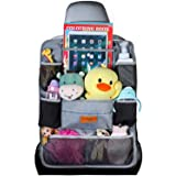 SURDOCA Car Organizer, 4th Generation Enhanced Car Seat Organizer with 10.5'' PVC-Free Tablet Holder, 9 Pockets, Road Trip Es