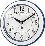 リズム時計工業(Rhythm) 壁掛け時計 バスクロック 防滴・防塵型 青/白 φ118×48mm 4KG711DN04