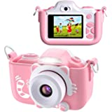BlueFire Kids Digital Camera Mini 2 Inch Screen 16MP HD Child Camcorder Rechargeable Front and Rear Selfie Digital Camera wit