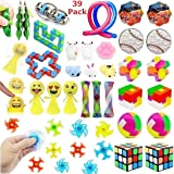 39 Pack Fidget Toys Bundle for Kids and Adults, Sensory Toys Set for Stress Relief and Anti-Anxiety, Sensory Fidget Hand Toys