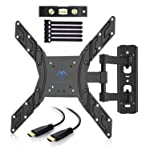 TV Wall Mount Bracket Full Motion Swivel for Most 23-55 inch LED, LCD, OLED, Plasma Flat Screen TVs with VESA up to...
