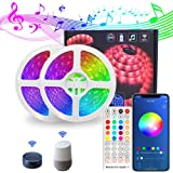 10M LED Strip Lights, WiFi Bluetooth App Remote Control, LED Rope Lights for Home TV Party