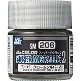 GSIクレオス Mr.スーパーメタリック2 スーパークロームシルバー2 10ml 模型用塗料 SM206