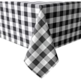 Homedocr Rectangle Tablecloth - Stain Resistant, Spillproof and Washable Table Cloth, Polyester & Polyester Blend, Checkered|