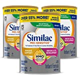 Similac Pro-Sensitive Infant Formula, Non-GMO, with Iron, 2'-FL HMO, for Immune Support, Milk-Based Powder, 2.18 Lb, Pack of