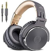 OneOdio Pro10 DJ モニターヘッドホン オーバーイヤー ヘッドホン 密閉型 楽器練習 ミキシング (グレー)
