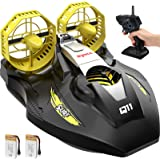 Remote Control Boat for Kids, SYMA Q11 Hovercraft RC Boat for Land, Pools and Lakes with 2.4GHz Speedboat, Double Power, Low