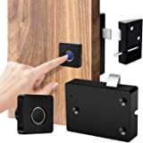Smart Electronic Cabinet Locks Kit Set, Fingerprint Lock for Box Furniture Drawer Lock Cupboard, Home & Office Hidden File Ca