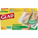Glad Zipper Sandwich Bags ,100s