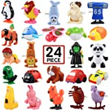 Wind-Up Toys, 24 Pack Assorted Mini Toy for Kids Party Favors, Birthday Goody Bag Filler Preschool Toy for Boys Girls Childre