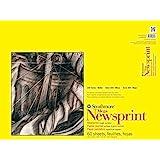 "Strathmore 300 Series Mega Newsprint Pad, Rough 18""x24"" Tape Bound, 60 Sheets"