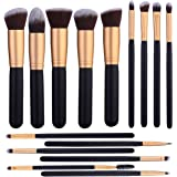 14 Pcs Makeup Brushes Set Kabuki Foundation Contour Blending Blush Concealer Face Eye Shadow Brush Synthetic Complete Cosmeti