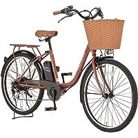 完成品 Voldy 電動アシスト自転車 シティサイクル 26インチ シマノ6段変速 かご LEDライト FT-266R…