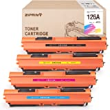 ZIPRINT Compatible Toner Cartridge for HP 126A CE310A CE311A CE312A CE313A Ues in HP Color Laserjet Pro MFP M175nw M275nw CP1