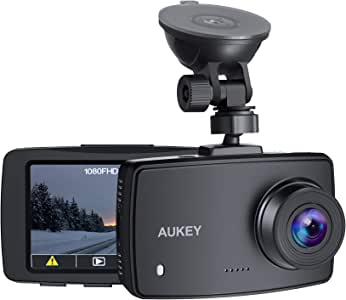 AUKEY ドライブレコーダー 車載カメラ 1080P Full HD 夜間画像補正 ノイズ対策済み 140°広角レンズ 2.7インチ大画面 多機能 ループ録画 動体検知録画 タイムラプス録画 HDR機能 逆光補正 取り付け簡単 DRA1