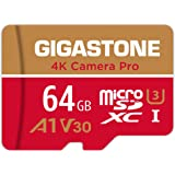 Gigastone 64GB Micro SD Card, 4K Camera Pro, UHD Video for GoPro, Action Camera, Wyze, DJI, Drone, R/W up to 95/35MB/s MicroS