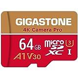 【5年保証 】Gigastone 64GB マイクロSDカード A1 V30 Ultra HD 4K ビデオ録画 Gopro アクションカメラ スポーツカメラ 高速4Kゲーム 動作確認済 100MB/s マイクロ SDXC UHS-I U3 C10