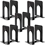Metal Bookends, Heavy Duty Black Bookend Support, 6 x 5 x 6 Inch, Set of 5 Pairs Black