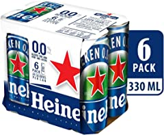 Heineken 0.0 Zero Alcohol Beer Can, 320ml (Pack of 6)