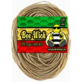 50ft of 100% Organic Hemp Wick waxed by hand in the USA with pharmaceutical grade beeswax (1.0mm)