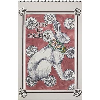 カルトドゥコロリアージュ 塗り絵ポストカード(15枚セット) いきもの GCC03