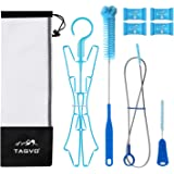 Tagvo Hydration Bladder Cleaning Kit for Universal Bladders, 4 in 1 Cleaner Set-Flexible Long Brush for Hose, Small Brush for