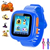 スマートウォッチ キッズ 腕時計 多機能 プレイウォッチ腕時計 おもちゃ タッチスクリー 誕生日/卒業祝い/クリスマスのプレセント 日本語設定(ブルー)