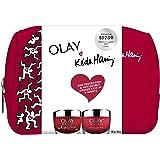 Olay Artist Edition Olay Regenerist Whip SPF30 + Regenerist Micro-Sculpting Night Cream Keith Haring Gift Set, 1 count