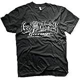 Gas Monkey Garage Officially Licensed White Logo Mens T-Shirt (Black)
