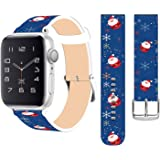 Strap Compatible for Apple Watch Series 5/4/3/2/1 38mm/40mm Leather - ENDIY Designer Leather Fashionable Band Replacement for