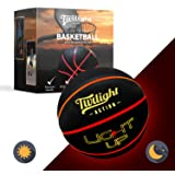 LED Light Up Basketball with 2 Bright Inner Lights Glow in The Dark Night Play with International Standard Size Basketball Pe
