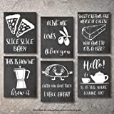 Think! Designs Wall Decor Kitchen Pictures Modern Farmhouse Eat Signs Decorations Shabby Chic Art Sign Prints for Home or Off