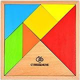 タングラム パズル 木製 tangram 赤ちゃん 幼児のおもちゃ 知恵の板 GYBBER&MUMU 7 ピース 組み合わせパズル (カラフル)