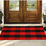 Buffalo Plaid Rug - YHOUSE Checkered Indoor/Outdoor Door Mat Outdoor Doormat for Front Porch/Kitchen/Laundry Room Welcome Lay
