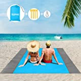 ISOPHO Beach Blanket, 79''×83'' Picnic Blankets Waterproof Sandproof for 4-7 Adults, Oversized Lightweight Beach Mat, Portabl