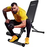 Adjustable Bench by OVERDRIVE for Home Gym Workout Fitness Incline Decline Flat Weight Bench