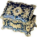 Feyarl ジュエリーボックス 宝石箱 ジュエリー収納 ジュエリーケース 腕時計ボックス レッド 長方形 ブルー L