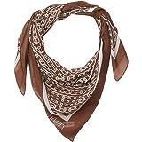 Calvin Klein Women's Chain Printed Chiffon Polyester Square Scarf