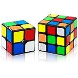 XMD 魔方 競技用キューブ 立体パズル Magic Cube Set 競技用 世界基準配色 ver4.0 ポップ防止 脳トレ 知育玩具 (2x2 3x3)