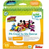 LeapFrog 80-461700 Leapstart Book- Pit Crews to The Rescue 3D Mickey and The Roadster Racers Level 1