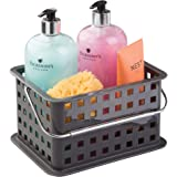 InterDesign Storage Organizer Basket, for Bathroom, Health and Beauty Products - Small, Slate