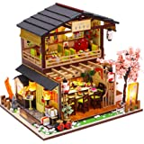 CUTEBEE Dollhouse Miniature with Furniture, DIY Wooden Dollhouse Kit Plus Dust Proof and Music Movement, 1:24 Scale Creative