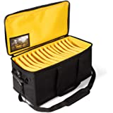 Large Cable File Bag with Shoulder Strap - Durable Gig Bags for Musicians - Cord Organizer Case with Handle - Professional DJ