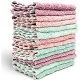 布巾 雑巾 ふきん ぞうきん 吸水タオル  速乾 強吸水性 強通気性 掃除用クロス 12枚【徳用】