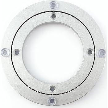 Vivavast アルミ合金製 回転台 回転盤 丸型棚 ターンテーブルベース 円卓向け 5インチ