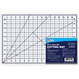 """U.S. Art Supply 12"""" x 18"""" WHITE/BLUE Professional Self Healing 5-6 Layer Double Sided Durable Non-Slip PVC Cutting Mat Great"""