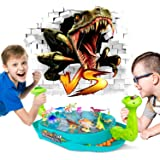 Dinosaur Shooting Toys for Kids, 2-Player Battle Creative Dino Board Game for Family Party Night, Adults and Kids Funny Bounc