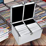 240 Discs Aluminium CD DVD Cases Bluray Lock Storage Box Organizer Free Inserts 240 Discs